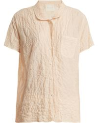 Loup Charmant - Camper Short Sleeved Striped Cotton Shirt - Lyst