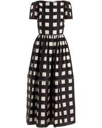 Christopher Kane - Zip-hem Square-print Silk Dress - Lyst