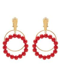 Marni - Beaded Hoop Clip-on Earrings - Lyst