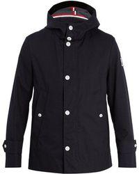 Moncler - Hooded Cotton-canvas Raincoat - Lyst
