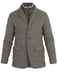 Herno - Single-breasted Quilted Down Wool-blend Jacket - Lyst