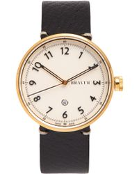 Bravur | Bw102 Stainless-steel And Grained-leather Watch | Lyst