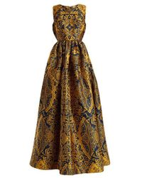 Mary Katrantzou - Shaw Sleeveless Cards-jacquard Gown - Lyst