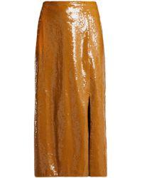 Johanna Ortiz - Frutilla Sequined Midi Skirt - Lyst