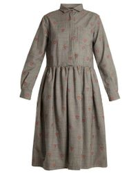 Shrimps - Gerald Shrimp-jacquard Wool-blend Dress - Lyst