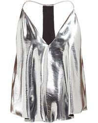Isabel Marant Racerback Metallic Silk Blend Camisole