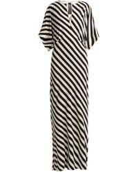 Norma Kamali - Striped Jersey Dress - Lyst