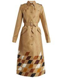 Gabriela Hearst - Rosalie Geometric-print Cotton Trench Coat - Lyst