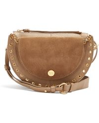 See By Chloé - Kriss Suede And Leather Cross-body Bag - Lyst