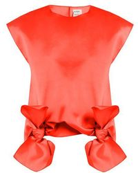 Maison Rabih Kayrouz - Tie-front Sleeveless Top - Lyst