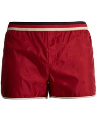 Gucci - Bee Jacquard Web Striped Swim Shorts - Lyst