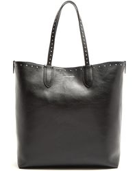 Alexander McQueen - North South Stud-embellished Leather Tote - Lyst