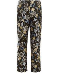 Erdem - Syrah Floral-jacquard Cropped Trousers - Lyst