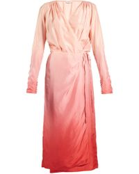 Attico   Silk Wrap Dress   Lyst