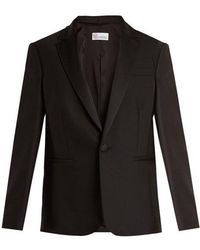 RED Valentino - Satin-lapel Wool-blend Jacket - Lyst
