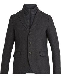 Herno - Detachable-placket Single-breasted Wool Coat - Lyst