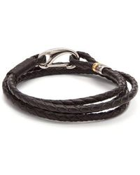 Paul Smith - Triple-wrap Leather Bracelet - Lyst
