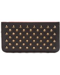 Christian Louboutin - Credilou Studded Leather Card Holder - Lyst
