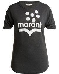 Étoile Isabel Marant - Koldia Logo-print Slub-linen T-shirt - Lyst