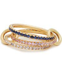 Spinelli Kilcollin - Aurora Sapphire, Tanzanite & Yellow-gold Ring - Lyst