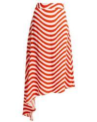 House of Holland - Wave-print Midi Skirt - Lyst