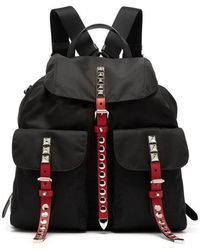 Prada - Stud-embellished Nylon Backpack - Lyst