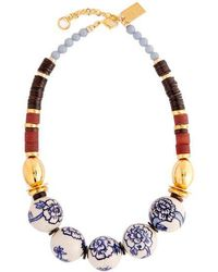 Lizzie Fortunato - New Blue Iii Large Beaded Necklace - Lyst