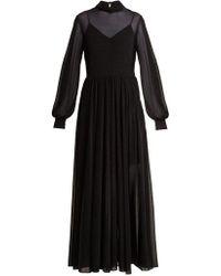 Diane von Furstenberg - High Neck Maxi Dress - Lyst