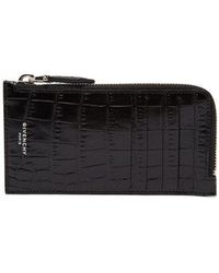 Givenchy - Crocodile Effect Leather Cardholder - Lyst
