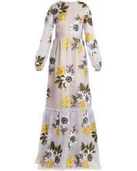 Erdem - Ora Floral Embroidered Silk Organza Gown - Lyst