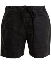 Chimala - Tie-waist Patch-pocket Cotton-twill Shorts - Lyst