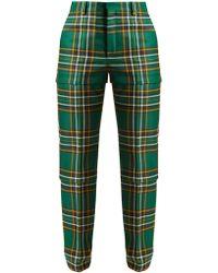 Balenciaga | Tartan High-rise Trousers | Lyst
