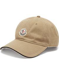 0516549f6b7 Moncler - Logo Patch Cotton Baseball Cap - Lyst