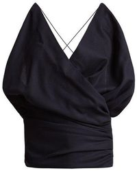 Jacquemus - Drape-front Wool Top - Lyst