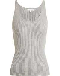 Skin - Valerie Ribbed-knit Cotton-blend Cami Top - Lyst