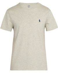 Polo Ralph Lauren - Logo-embroidered Cotton-jersey T-shirt - Lyst