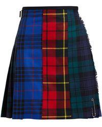 Le Kilt - Patchwork 48cm Tartan Wool Kilt - Lyst