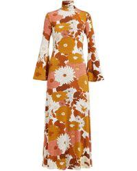 Dodo Bar Or Brigitte Floral Print Roll Neck Twill Dress - Multicolor