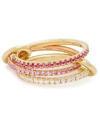 Spinelli Kilcollin - Aurora Diamond, Sapphire, Ruby & Gold Ring - Lyst