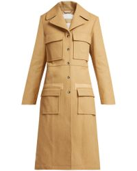 Chloé - Patch-pocket Cotton Coat - Lyst