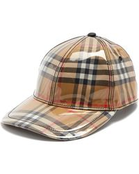 Burberry - Laminated Vintage-check Cap - Lyst