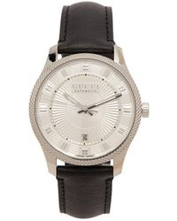 Gucci - Eryx Stainless Steel And Leather Watch - Lyst