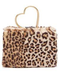 Shrimps - - Nancy Leopard Print Faux Fur Bag - Womens - Leopard - Lyst