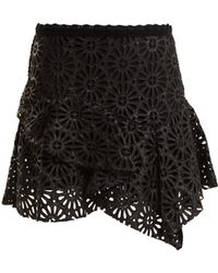 Isabel Marant - Daley Broderie-anglaise Mini Skirt - Lyst