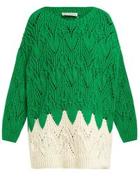 Vika Gazinskaya - Hand Knitted Oversized Cotton Blend Sweater - Lyst