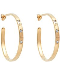 Aurelie Bidermann - Fair Trade Topaz & Yellow-gold Hoop Earrings - Lyst