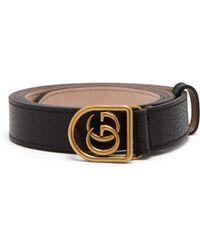 42547a5b14f Gucci Gg-logo Leather 3cm Belt in Black for Men - Lyst