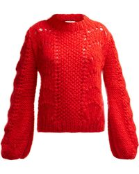 Ganni - Julliard Mohair Knit Sweater - Lyst