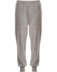 Allude - Mid-rise Cashmere Track Pants - Lyst