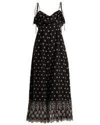 Athena Procopiou - Moonbeams Floral-embroidered Dress - Lyst